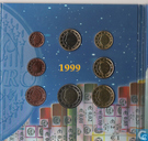 "Coins - Belgium - Belgium combination set 1999 - 2001 ""Euro intro set"""