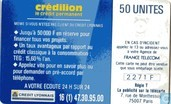 Phone cards - France Telecom - Credilion