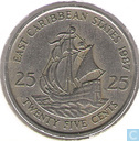 East Caribbean States 25 cents 1987