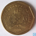 Netherlands Antilles 2½ guilders 1990