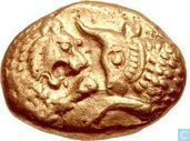 Coins - Greece (ancient) - Lydia Sardes King Croesus AV heavy Stater about 560-546 B.C.