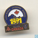 17th World Jamboree Mondial 1991 Korea Canada
