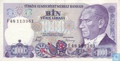 Turkey 1,000 Lira ND (1988/L1970) P196a2