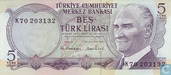 Turkey 5 Lira ND (1976/L1970)