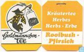 Tea bags and Tea labels - Goldmännchen Tee -  6 Rooibush-Pfirsich