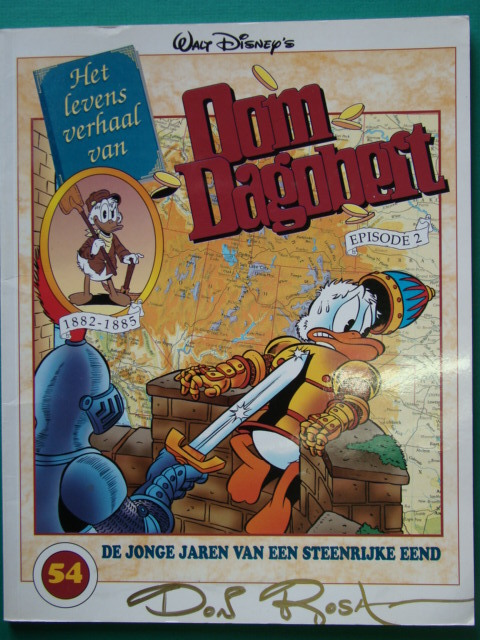 Oom Dagobert 54 - Gesigneerd door Don Rosa