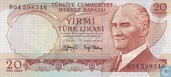 Turkey 20 Lira ND (1979/L1970)