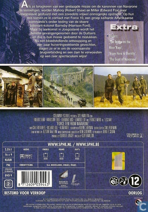 Force 10 from Navarone - DVD - Catawiki