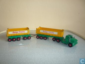 Modelauto's  - Matchbox - Dodge Tractor Unit & Twin Fruehauf Tipping Trailers