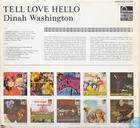 Platen en CD's - Washington, Dinah - Tell love hello
