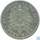 Hamburg 5 mark 1875