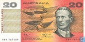 Australië 20 Dollars ND (1989)