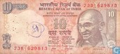 India 10 Rupees 1996 (N)