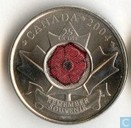 "Canada 25 cents 2004 ""Remembrance Day"""