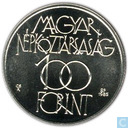 """Hungary 100 forint 1985 """"Budapest Cultural Forum"""""""