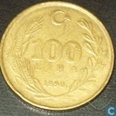 Turkey 100 lira 1990