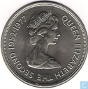 "Jersey 25 pence 1977 ""25th Anniversary of the Coronation of Queen Elizabeth II"""