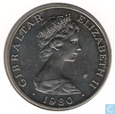 "Gibraltar 1 crown 1980 ""175th Anniversary of the Death of Horatio Nelson"""