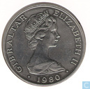 "Gibraltar 1 crown 1980 ""80th Anniversary of Queen Mother"""