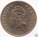 French Polynesia 100 francs 1976