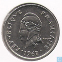 French-Polynesia 10 francs 1967