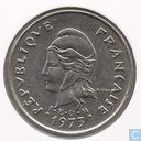 French Polynesia 10 francs 1973
