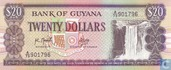 Guyana 20 Dollars ND (1989) P27a2