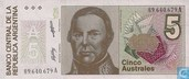 Banknotes - 1985-91 ND Issue - Argentina 5 Australes 1986