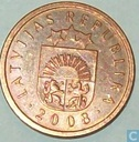 Latvia 1 santims 2008