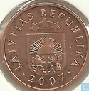 Latvia 1 santims 2007