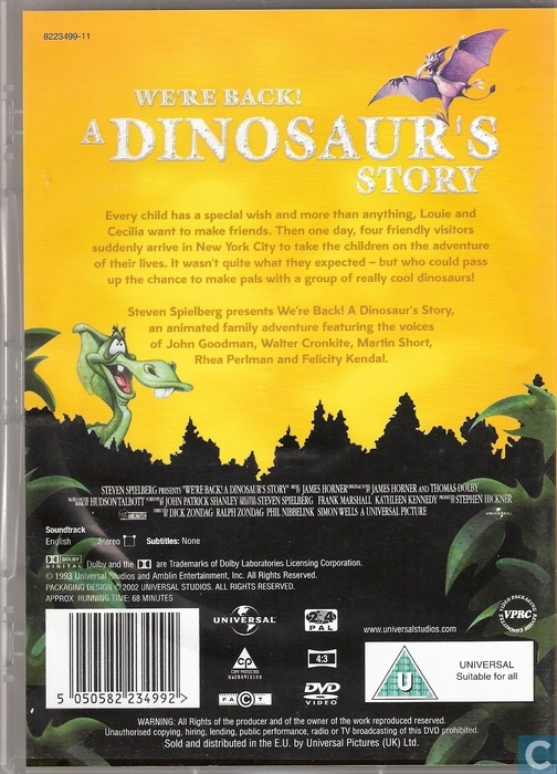 We're back! A Dinosaur's Story - DVD - Catawiki