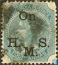 Queen Victoria with small overprint On H.M.S.