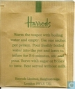 Tea bags and Tea labels - Harrods - Herbal Infusion