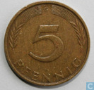 Coins - Germany - Germany 5 pfennig 1971 (G)