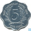 Eastern Caribbean States 5 cents 1989