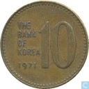 South Korea 10 won 1971