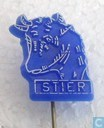 Stier [white on blue]