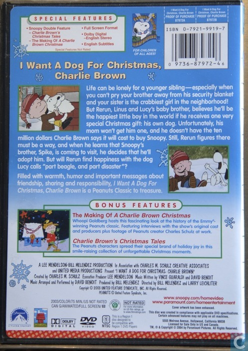 I want a dog for christmas, Charlie Brown - DVD - Catawiki