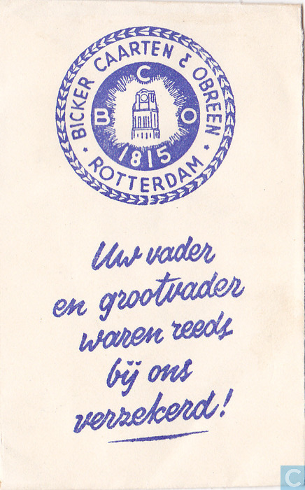 Bicker caarten obreen sachet catawiki - Collectionneur de sucre ...