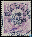 Leopold II, with overprint