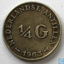 Netherlands Antilles ¼ guilder 1963
