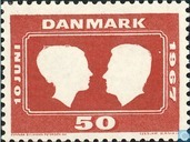 Postage Stamps - Denmark - Marriage To Marguerite
