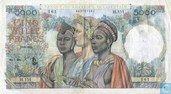 French West Africa 5000 Francs