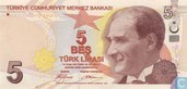 Turkey 5 Lira ND (2009/L1970)