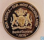 "Guyana 25 cents 1976 (PROOF) ""10th Anniversary of Independence - Harpy - Self Determination"""