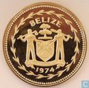 "Belize 10 dollars 1974 (PROOF) ""Great Curassow"""