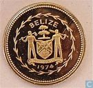 "Belize 10 cents 1974 (PROOF) ""Avifauna of Belize - Long-tailed Hermit"""