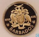 "Barbados 10 cents 1976 (PROOF) ""10th Anniversary of Independence"""
