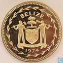 "Belize 1 dollar 1974 (PROOF) ""Scarlet Macaw"""