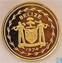 "Belize 5 cents 1974 (PROOF) ""Avifauna of Belize - Fork-tailed Flycatchers"""